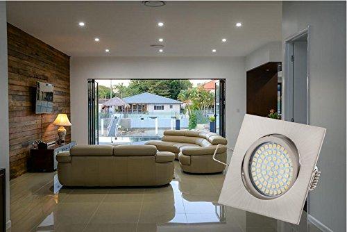 led einbaustrahler eckig aus edelstahl vergleiche neu. Black Bedroom Furniture Sets. Home Design Ideas