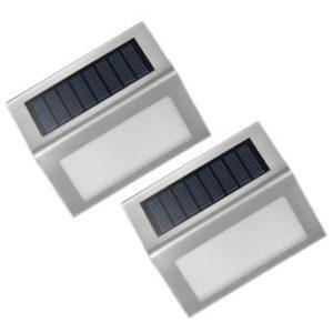 VicTsing 2 Stk LED Solarleuchte Garten Edelstahl